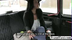 Fake taxi action with a hot babe