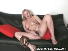Sexy asian slut toys pussy