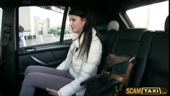 Hot penelope rides a taxi and gets fucked