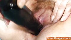 hairy, mature, orgasm, old, fingering, milf, mom