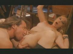 Hot blonde babe welcomes unexpected cock guest