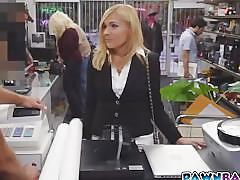 Hot milf fucked in pawn shop