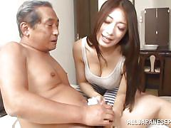 milf, handjob, mature, old man, japanese, blowjob, brunette, censored, cock washing, japanese matures, all japanese pass