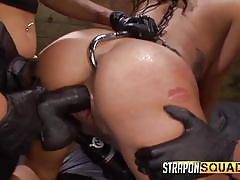 Two dommes abuse their slave