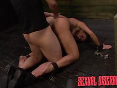 Asian slave gets fucked hard