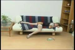 Very hot sex on sofa