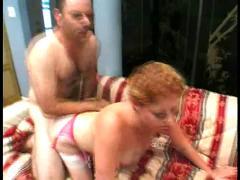 Sexy redhead cherry poppens takes 2 dicks