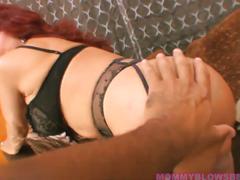 Sexy vanessa redhead latina mom likes young cock