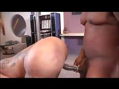 Huge booty stripper taking black cock