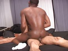 Super hot fucking session as monster black cock drills tight ass