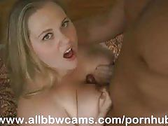Juicy bbw fucks up her cunt and giant tits part 2