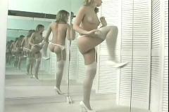 Solo dancing in mirror