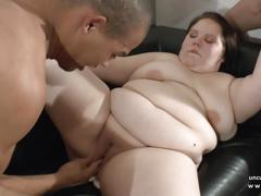Young fat bbw french slut ass fucked fisted n facial in 3way