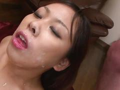 Busty slut gets a gangbanged hardcore