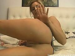 Pigtail blonde anal creampie