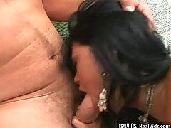 Sexy girl gets nailed hard by two cocks