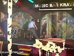 Drunken women fucking male strippers