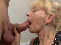 Blonde german granny