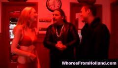 Blonde redlight hooker sucks her client