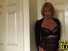 Mature lady seduces with her cute body
