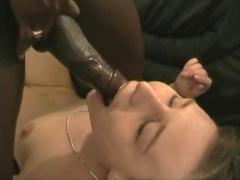 German swinger girl goes black
