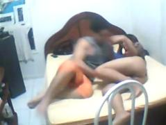 Indian college couple girl with nice ass fucked on bed by bf