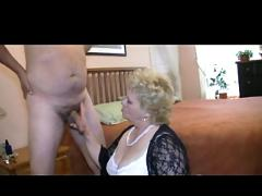 Granny likes to play with cock in panties
