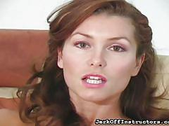 milf, big tits, solo, pantyhose, masturbation, brunette, jerk instruction, teasing, jerk off instructors, fetish network, heather vandeven