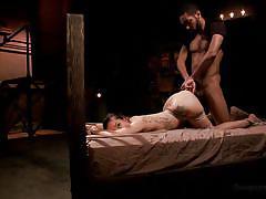 Gabriella tied up and fucked hard