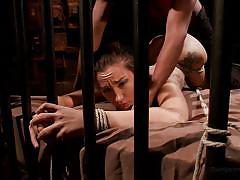 tattoo, blackmail, anal, babe, interacial, dungeon, from behind, rope bondage, dungeon sex, kink, mickey mod, gabriella paltrova