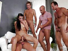 Samantha wants to fuck hard @ 4 on 1 gang bangs #04