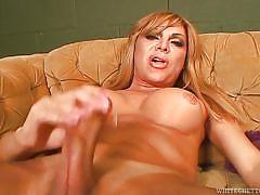 Baldy sucks tranny cock @ transsexual gag hags #02