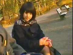 Blowjob first a japanese high school girl