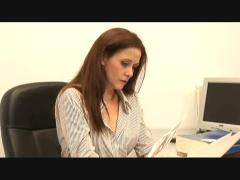 Lesbian sex in the office