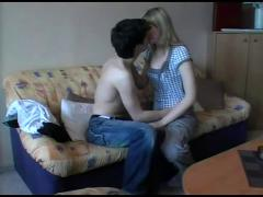 Young amateur couple sex tape