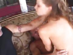 Hardcore pornstar getting fucked by two hard dicks