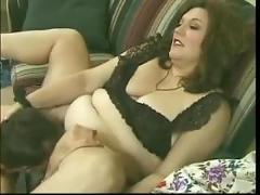 Bbw hairy mommy fucks cock