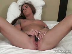 masturbation, big ass, babe, brunette, solo, toys, beauty, brown hair, dildo, glamour, masturbating, naked, nice ass, posing, round ass, teasing