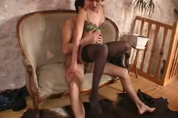 Mature gets kinky with her younger stud's cock