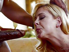 milf, blonde, big tits, interracial, rimjob, blowjob, sucking nipples, bbc, reality junkies, cherie deville, nat turner
