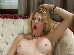 blowjob, big dick, from behind, anal sex, tranny big boobs, blonde tranny, transsexual, ts seduction, kink, tyra scott, danny oak