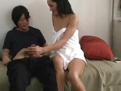 Amwf sexy brunette seduce asian roommate interracial