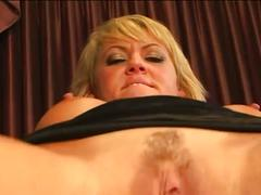 Hot blonde milf gets ass nailed hard doggystyle
