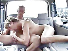Mom getting banged in the car