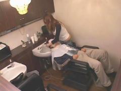 The hot japanese hairdresser