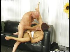 Teen rides man's face and cock