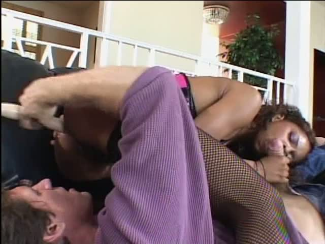 Creamy black pussy getting fucked