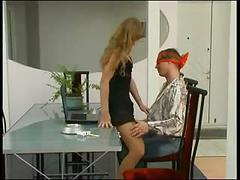 Girl fucks guy with strapon
