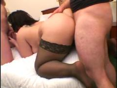 Maddy hot amateur bbw slut wife takes 2 cocks on bed