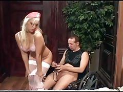 Nurse nikki fucking a gimp in boots and stockings
